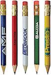 Round Golf Pencils With Eraser